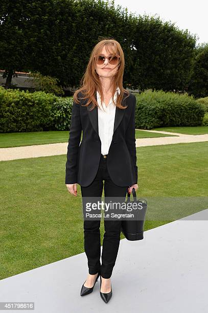 Isabelle Huppert attends the Christian Dior show as part of Paris Fashion Week Haute Couture Fall/Winter 20142015 on July 7 2014 in Paris France