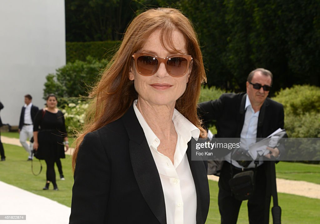 <a gi-track='captionPersonalityLinkClicked' href=/galleries/search?phrase=Isabelle+Huppert&family=editorial&specificpeople=662796 ng-click='$event.stopPropagation()'>Isabelle Huppert</a> attends the Christian Dior Show as part of Paris Fashion Week - Haute Couture Fall/Winter 2014-2015 at Musee Rodin on July 7, 2014 in Paris, France.
