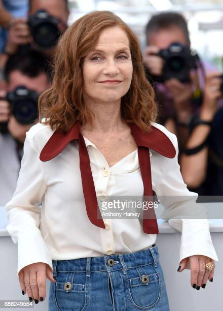 Isabelle Huppert attends the 'Claire's Camera ' Photocall during the 70th annual Cannes Film Festival at Palais des Festivals on May 21 2017 in...