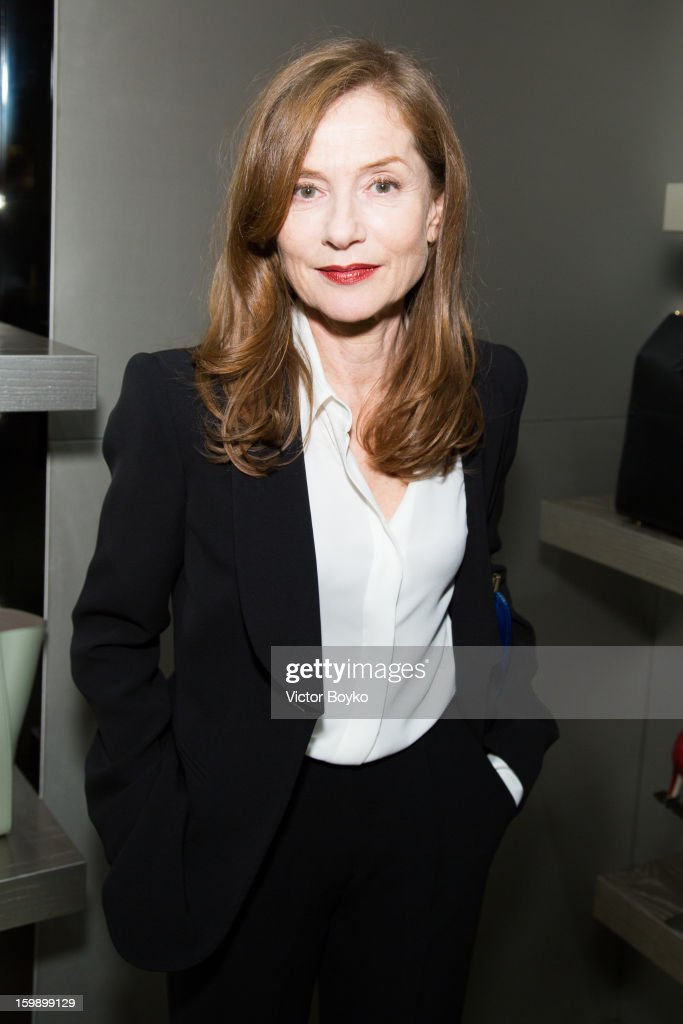 Isabelle Huppert attends the Giorgio Armani Paris avenue Montaigne boutique opening on January 22, 2013 in Paris, France.