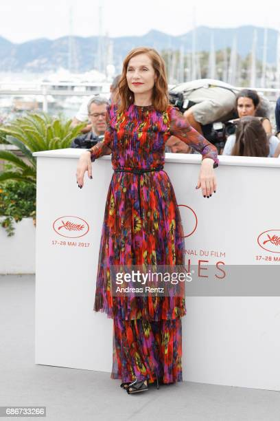 Isabelle Huppert attends the 'Happy End' photocall during the 70th annual Cannes Film Festival at Palais des Festivals on May 22 2017 in Cannes France
