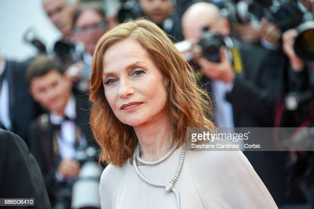 Isabelle Huppert attends 'The Meyerowitz Stories' premiere during the 70th annual Cannes Film Festival at Palais des Festivals on May 21 2017 in...