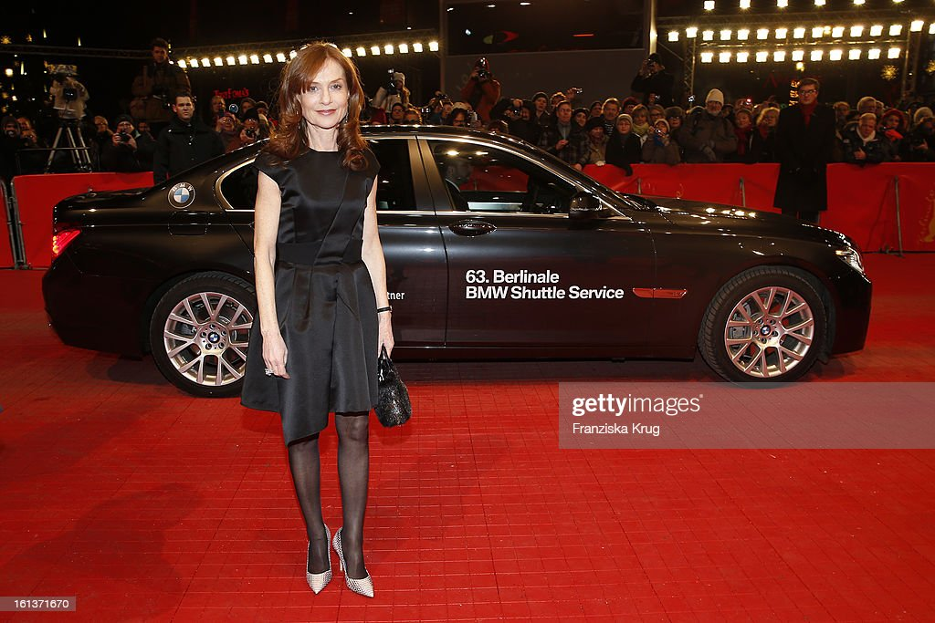 Isabelle Huppert attends 'The Nun' Premiere - BMW at the 63rd Berlinale International Film Festival at the Berlinale-Palast on February 10, 2013 in Berlin, Germany.