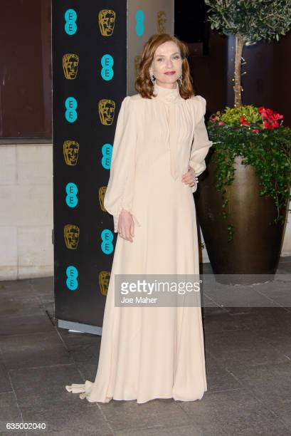 Isabelle Huppert attends the official after party for the 70th EE British Academy Film Awards at The Grosvenor House Hotel on February 12 2017 in...