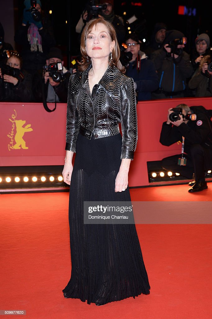 Isabelle Huppert attends the 'Things to Come' premiere during the 66th Berlinale International Film Festival Berlin at Berlinale Palace on February...
