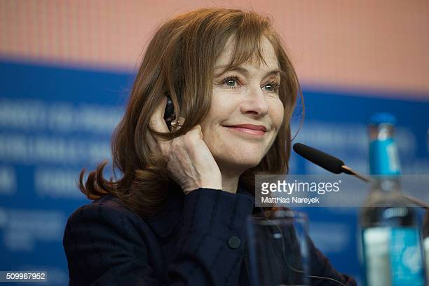Isabelle Huppert attends the 'Things to Come' press conference during the 66th Berlinale International Film Festival Berlin at Grand Hyatt Hotel on...