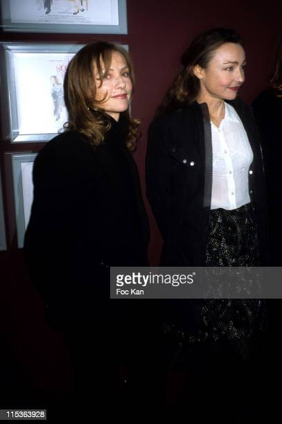 Isabelle Huppert Catherine Frot during 'Two Angry Sisters' Paris Premiere at Cinema Publicis Champs Elysees in Paris France