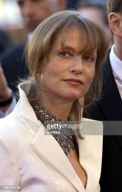 Isabelle Huppert during 2003 Cannes Film Festival 'Le Temp Du Loup' Premiere at Palais Des Festival in Cannes France