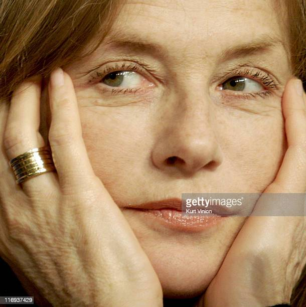 Isabelle Huppert during 56th Berlinale International Film Festival 'Comedy of Power' Press Conference at Berlin in Berlin Germany