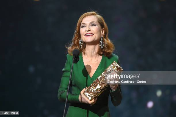 Isabelle Huppert during the Cesar Film Awards 2017 ceremony at Salle Pleyel on February 24 2017 in Paris France