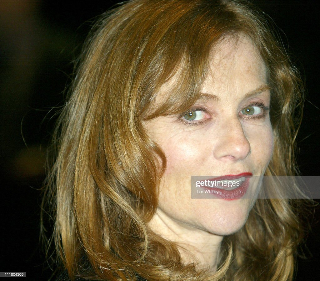 Isabelle Huppert during The Times BFI London Film Festival 2004 'I Heart Huckerbees' Closing Night Gala at Odeon Leister Square in London Great...