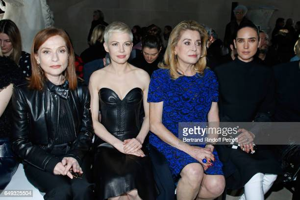 Isabelle Huppert Michelle Williams Catherine Deneuve and Jennifer Connelly attend the Louis Vuitton show as part of the Paris Fashion Week Womenswear...