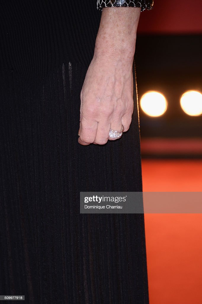 <a gi-track='captionPersonalityLinkClicked' href=/galleries/search?phrase=Isabelle+Huppert&family=editorial&specificpeople=662796 ng-click='$event.stopPropagation()'>Isabelle Huppert</a>, ring detail, attends the 'Things to Come' (L'avenir) premiere during the 66th Berlinale International Film Festival Berlin at Berlinale Palace on February 13, 2016 in Berlin, Germany.