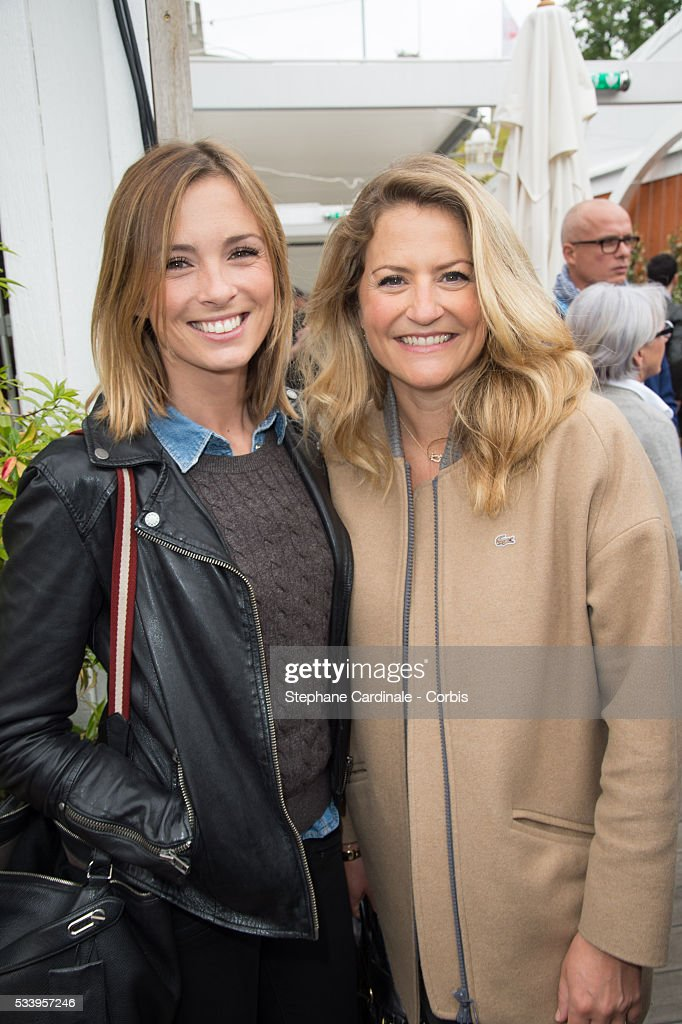 Isabelle Ithurburu and Astrid Bard attend the 2016 French tennis Open day 3, at Roland Garros on May 24, 2016 in Paris, France.
