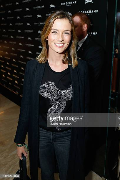 Isabelle Ithurburu arrives at the Lonchamp Cocktail as part of the Paris Fashion Week Womenswear Spring/Summer 2017 at Longchamp Boutique St Honore...