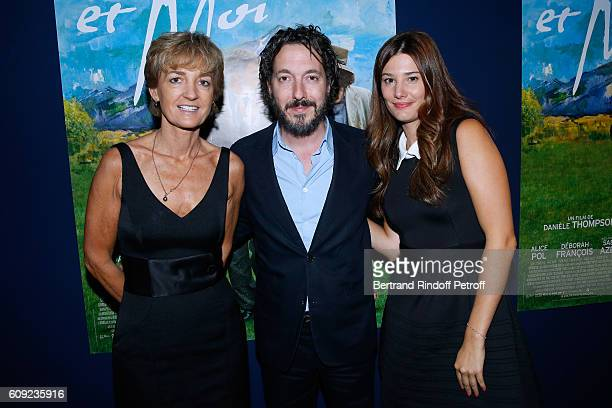 Isabelle Juppe actors of the movie Guillaume Gallienne and Alice Pol attend the 'Cezanne et Moi' movie Premiere to Benefit 'Claude Pompidou...