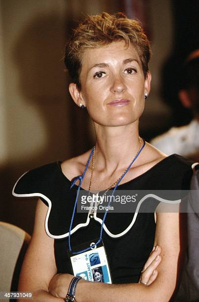 Isabelle Juppe wife of French Foreign Minister Alain Juppe during the G7 Summit at the Royal Palace of Naples Piazza del Plebiscito on July 10 1994...