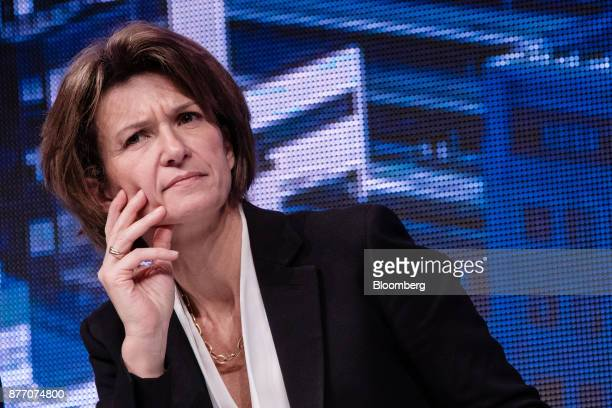 Isabelle Kocher chief executive officer of Engie SA looks on during the Rendezvous de Bercy economic debate at the French Ministry of Economy in...