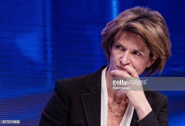 Isabelle Kocher chief executive officer of Engie SA pauses during the Rendezvous de Bercy economic debate at the French Ministry of Economy in Paris...