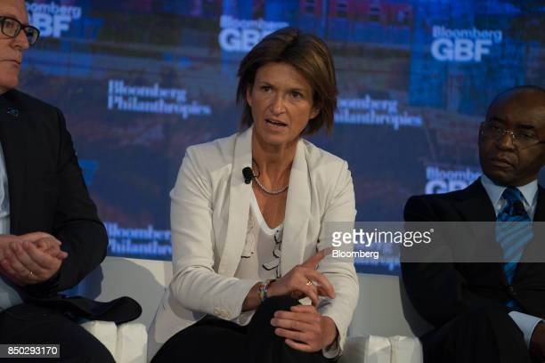 Isabelle Kocher chief executive officer of Engie SA speaks during the Bloomberg Global Business Forum in New York US on Wednesday Sept 20 2017 The...
