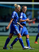 Isabelle Linden and Charlie Wellings of Birmingham City Ladies during the WSL 1 match between Birmingham City Ladies and Sunderland AFC Ladies at The...