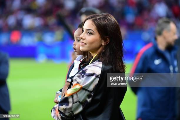 Isabelle Matuidi during the Ligue 1 match between Paris Saint Germain and Toulouse at Parc des Princes on August 20 2017 in Paris