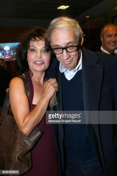 Isabelle Mergault and Andre Techine attend Sylvie Vartan Performs at L'Olympia on September 16 2017 in Paris France