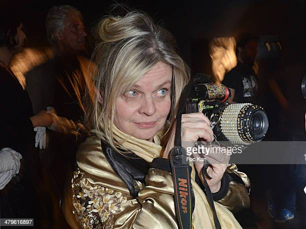 Isabelle Nanty attends the Lee Jeffries Photo Exhibition Preview At Galerie Pompidou Yellow Korner on March 19 2014 in Paris France