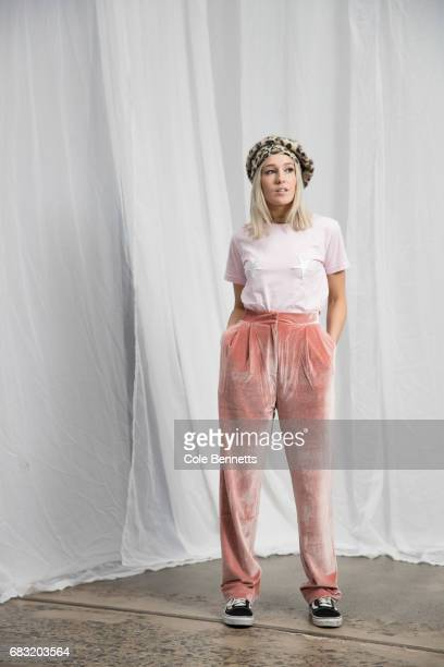Isabelle Quinn wearing her own label Isabelle Quinn during MercedesBenz Fashion Week Resort 18 Collections at Carriageworks on May 15 2017 in Sydney...