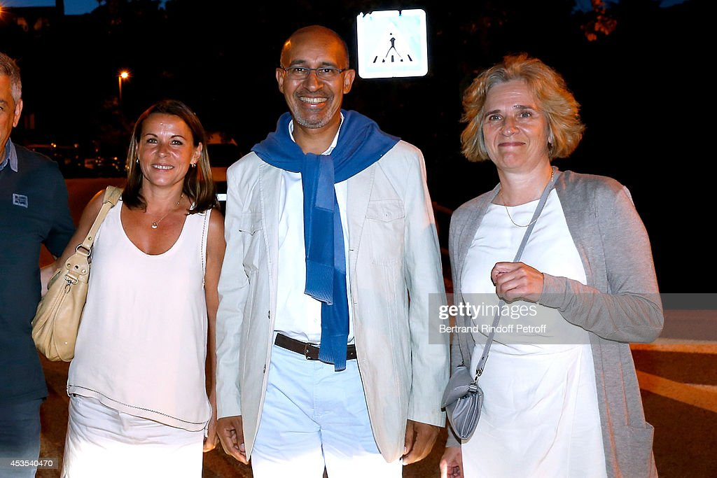 Isabelle Santiago, Secretary of State for European Affairs Harlem Desir and Florence de Chalonge attend the Michel Boujenah's show 'Ma vie revee' for the last evening of the 30th Ramatuelle Festival : Day 12 on August 12, 2014 in Ramatuelle, France.