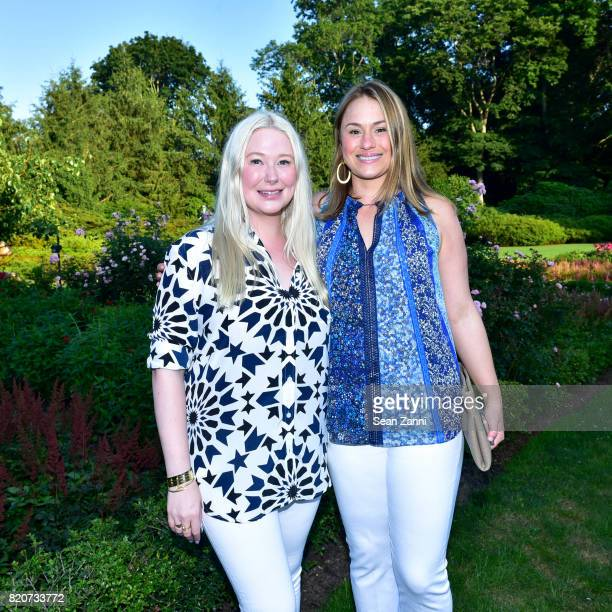 Isabelle Trapnell Marino and Astrid Hill attend ARF in the Garden of Peter Marino at a Private Residence on July 15 2017 in Southampton NY