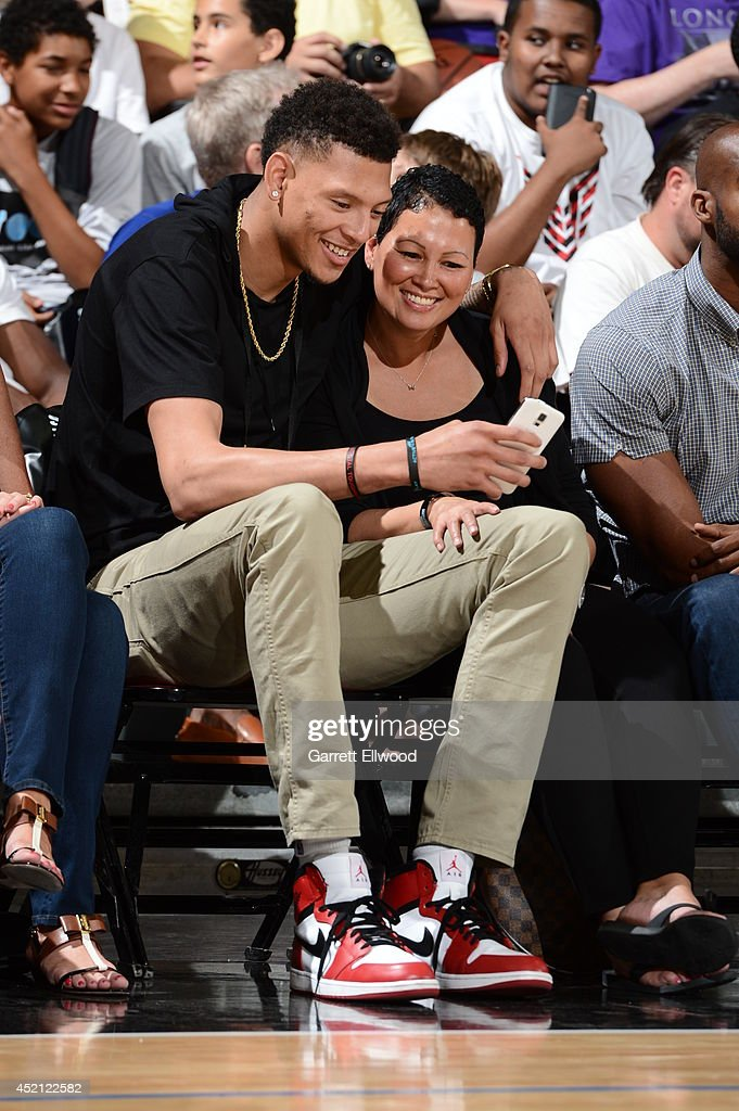 Isaiah Austin attends an NBA game between the Chicago Bulls and Denver Nuggets at the Samsung NBA Summer League 2014 on July 13 2014 at the Cox...