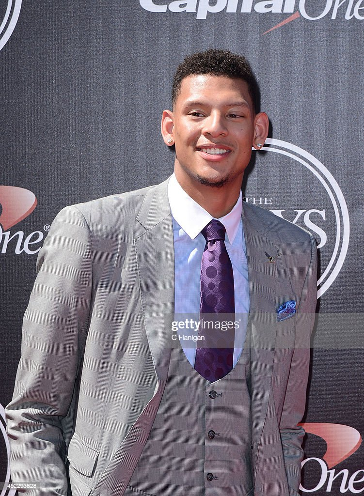 Isaiah Austin attends the 2014 ESPY Awards at Nokia Theatre LA Live on July 16 2014 in Los Angeles California