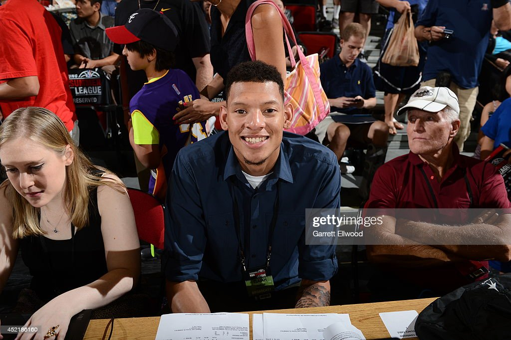 Isaiah Austin attends the Samsung NBA Summer League 2014 at the Cox Pavilion on July 14 2014 in Las Vegas Nevada NOTE TO USER User expressly...