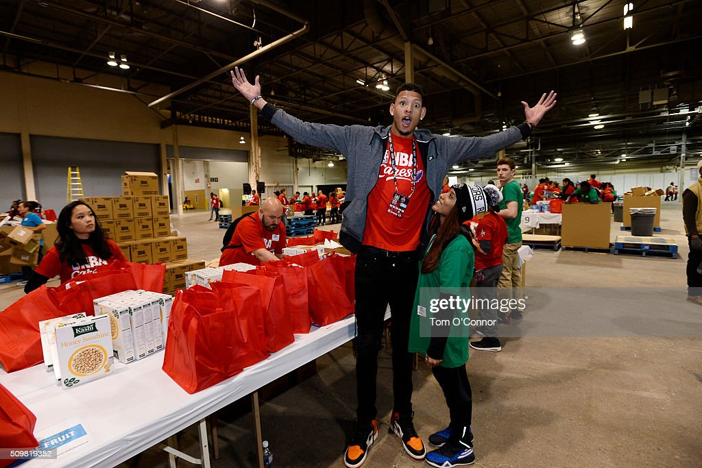 <a gi-track='captionPersonalityLinkClicked' href=/galleries/search?phrase=Isaiah+Austin&family=editorial&specificpeople=9082709 ng-click='$event.stopPropagation()'>Isaiah Austin</a> poses for a picture during the NBA Cares All-Star Day of Service as part of 2016 All-Star Weekend at NBA Centre Court of the Enercare Centre on February 12, 2016 in Toronto, Ontario, Canada.