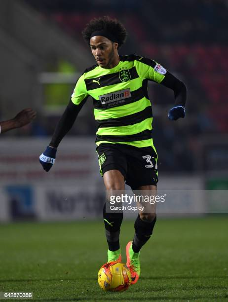 Isaiah Brown of Huddersfield during the Sky Bet Championship match between Rotherham United and Huddersfield Town at The New York Stadium on February...