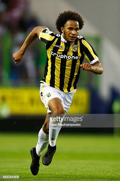 Isaiah Brown of Vitesse in action during the UEFA Europa League third qualifying Round 2nd Leg match between Vitesse Arnhem and Southampton FC held...