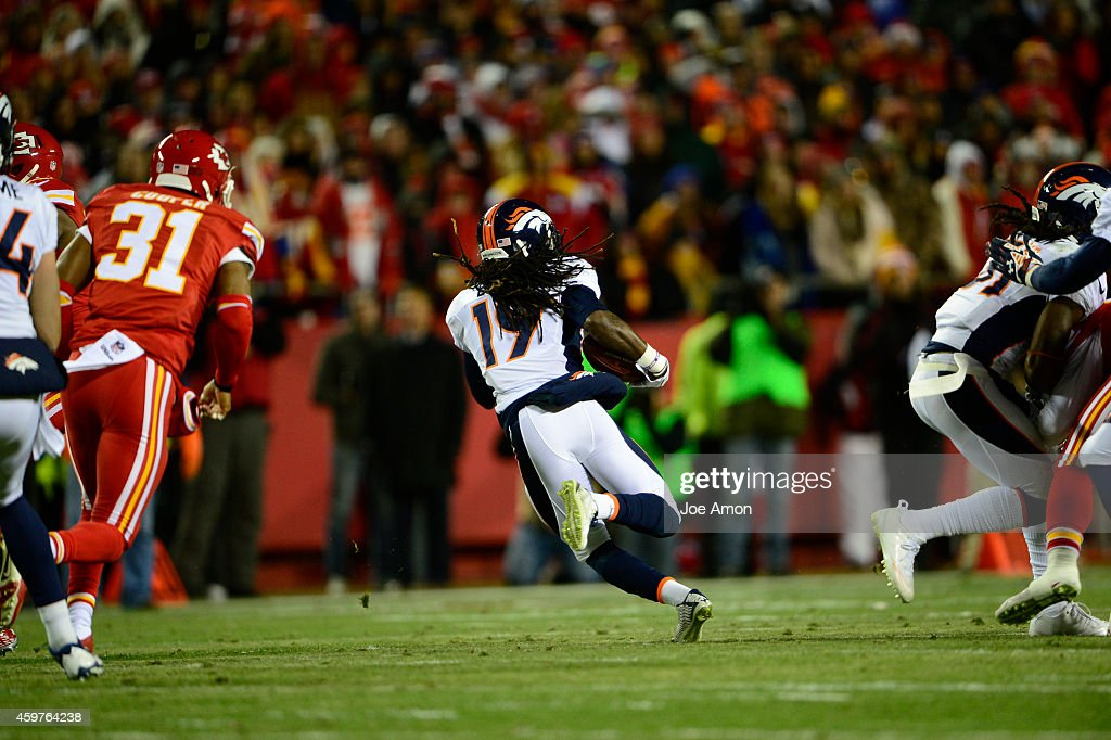 <a gi-track='captionPersonalityLinkClicked' href=/galleries/search?phrase=Isaiah+Burse&family=editorial&specificpeople=7228109 ng-click='$event.stopPropagation()'>Isaiah Burse</a> (19) of the Denver Broncos returns a punt in the first quarter. The Denver Broncos played the Kansas City Chiefs at Arrowhead Stadium in Kansas City on November 30, 2014.