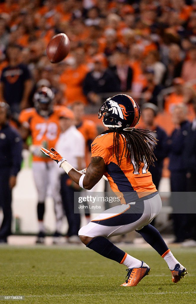 <a gi-track='captionPersonalityLinkClicked' href=/galleries/search?phrase=Isaiah+Burse&family=editorial&specificpeople=7228109 ng-click='$event.stopPropagation()'>Isaiah Burse</a> (19) of the Denver Broncos watched a punt in the first quarter. The Denver Broncos played the San Diego Chargers at Sports Authority Field at Mile High in Denver on October 23, 2014.