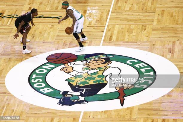 Isaiah Canaan of the Chicago Bulls defends Isaiah Thomas of the Boston Celtics during the first quarter of Game Five of the Eastern Conference...