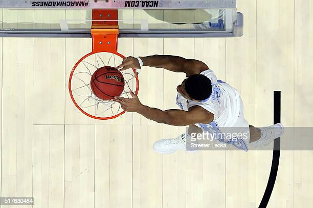 Isaiah Hicks of the North Carolina Tar Heels dunks the ball in the second half against the Notre Dame Fighting Irish during the 2016 NCAA Men's...