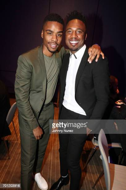 Isaiah Michael Joyner and CJ Southerland attend the 2017 Native Son Power Presence And Excellence Awards at Conrad Hotel on June 21 2017 in New York...