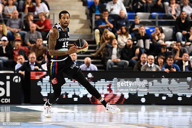 Isaiah Miles of Dijon during the Pro A match between Antibes sharks and JDA Dijon on November 4 2016 in Antibes France