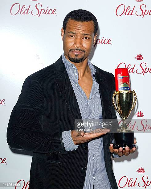 Isaiah Mustafa attends the Old Spice Scent Event at Highline Stages on March 13 2012 in New York City