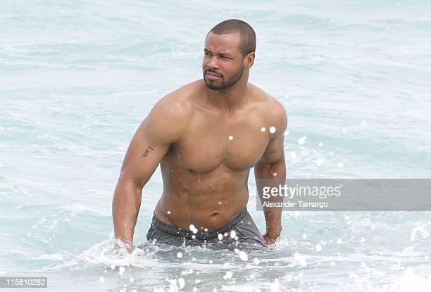 Isaiah Mustafa is seen vacationing on June 10 2011 in Miami Beach Florida