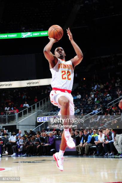 Isaiah Taylor of the Atlanta Hawks shoots the ball against the Sacramento Kings on November 15 2017 at Philips Arena in Atlanta Georgia NOTE TO USER...