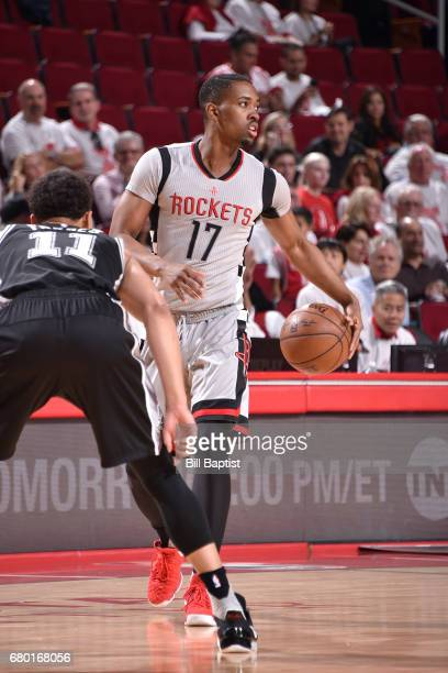 Isaiah Taylor of the Houston Rockets handles the ball against the San Antonio Spurs in Game Four of the Western Conference Semifinals of the 2017 NBA...