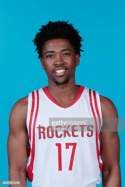 Isaiah Taylor of the Houston Rockets poses for a headshot during the 20162017 Houston Rockets Media Day on September 23 2016 at the Toyota Center in...