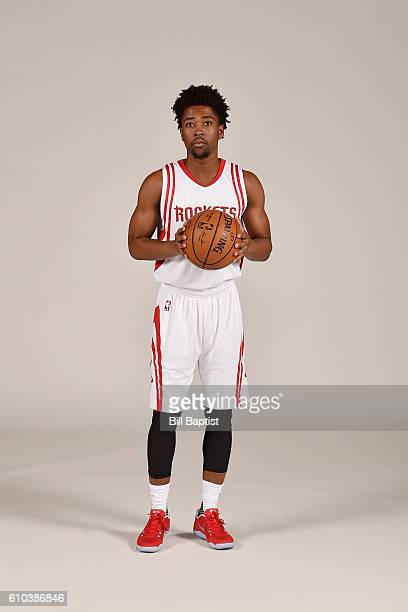 Isaiah Taylor of the Houston Rockets poses for a portrait during the 2016 NBA Media Day at the Toyota Center on September 24 2016 in Houston Texas...