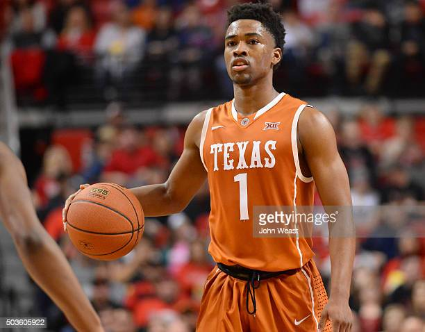 Isaiah Taylor of the Texas Longhorns brings the ball up court during the game against the Texas Tech Red Raiders on January 02 2016 at United...